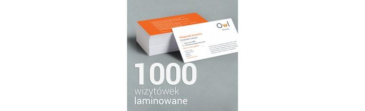 1000szt wizytówki OWL Financial