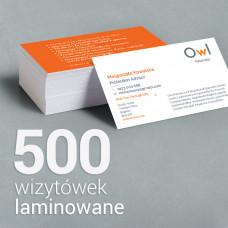 500szt wizytówki OWL Financial