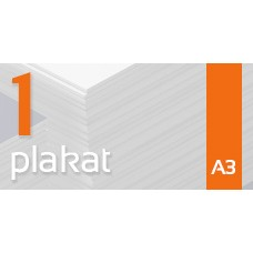 Plakat A3 - 1szt. 135gm Gloss Finish