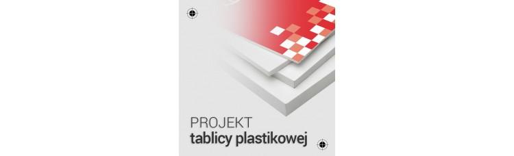 Projekt tablicy plastikowej
