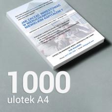 Ulotka A4 - 1000 szt. Gloss/Silk