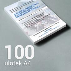 Ulotka A4 - 100 szt. Gloss/Silk