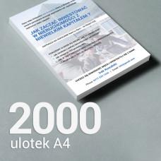 Ulotka A4 - 2000 szt. Gloss/Silk