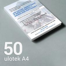 Ulotka A4 - 50 szt. Gloss/Silk