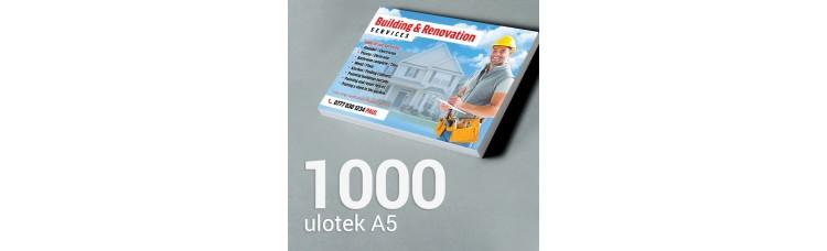 Ulotka A5 - 1000 szt. Gloss Finish