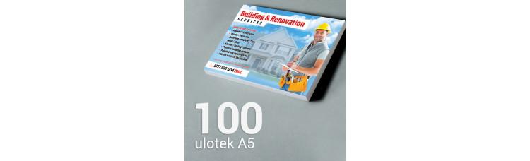 Ulotka A5 - 100 szt. Gloss Finish