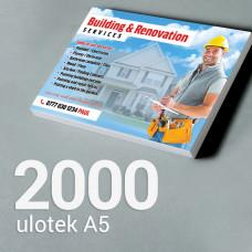 Ulotka A5 - 2000 szt. Gloss Finish