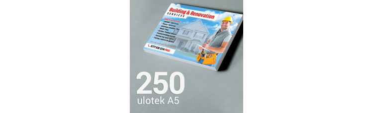 Ulotka A5 - 250 szt. Gloss Finish