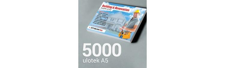 Ulotka A5 - 5000 szt. Gloss Finish