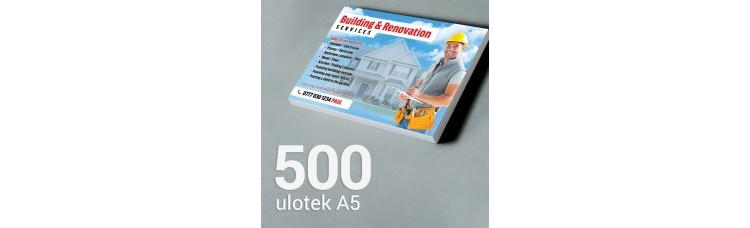 Ulotka A5 - 500 szt. Gloss Finish