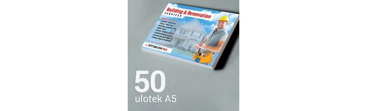 Ulotka A5 - 50 szt. Gloss Finish