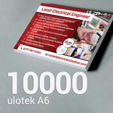 Ulotka A6 - 10000 szt. Gloss/Silk