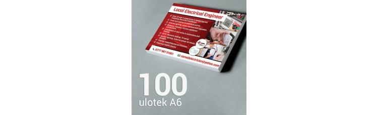 Ulotka A6 - 100 szt. Gloss/Silk