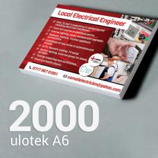 Ulotka A6 - 2000 szt. Gloss/Silk