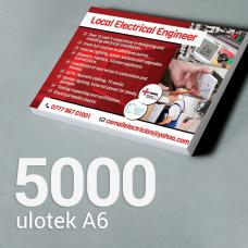 Ulotka A6 - 5000 szt. Gloss/Silk
