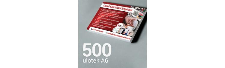 Ulotka A6 - 500 szt. Gloss/Silk