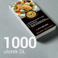Ulotka DL - 1000 szt. Gloss/Silk