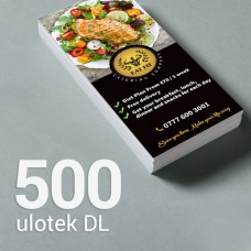 Ulotka DL - 500 szt. Gloss/Silk