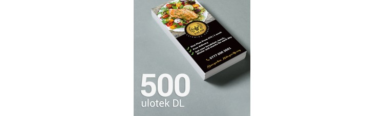 Ulotka DL - 500 szt. Gloss/Silk
