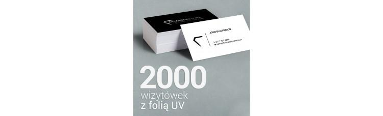 2000 Wizytówki matowe, laminowane z folią UV