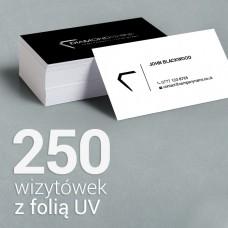 250 Wizytówki matowe, laminowane z folią UV