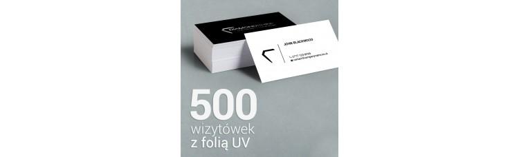 500 Wizytówki matowe, laminowane z folią UV