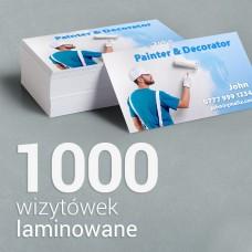 1000 Wizytówki matowe laminowane