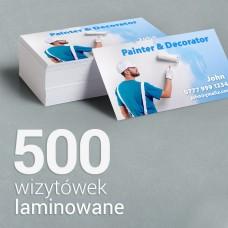 500 Wizytówki matowe laminowane