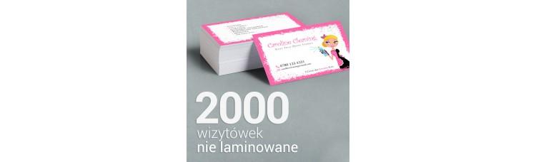 2000 Wizytówki premium, nie laminowane