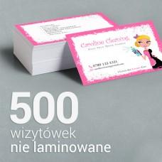 500 Wizytówki premium, nie laminowane