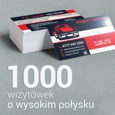 1000 Wizytówki o wyższym połysku