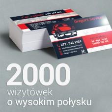 2000 Wizytówki o wyższym połysku
