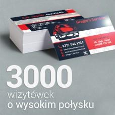 3000 Wizytówki o wyższym połysku