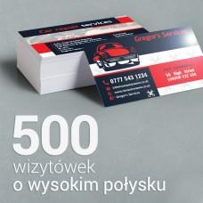 500 Wizytówki o wyższym połysku